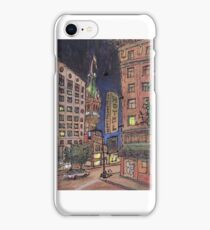 Up late at Traveler's hotel iPhone Case/Skin