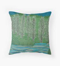 Lombardy Poplar Throw Pillow