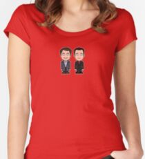 Jack and Ianto (shirt) Women's Fitted Scoop T-Shirt