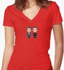 Jack and Ianto (shirt) Women's Fitted V-Neck T-Shirt