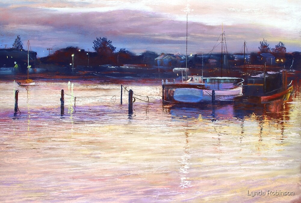 'Harbour Lights - Apollo Bay' by Lynda Robinson