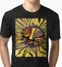 Just a little freeway face abstracted Tri-blend T-Shirt