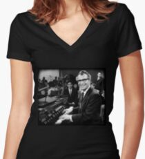 Dave Brubeck Women's Fitted V-Neck T-Shirt