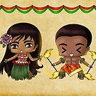 Chibi Hawaiians by artwaste
