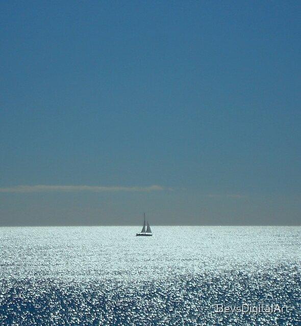 Solitude on the Sea by BevsDigitalArt