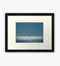 Solitude on the Sea Framed Print