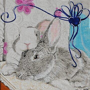 Bunny Anytime Valentines-Design Twelve by ArtbyMinda