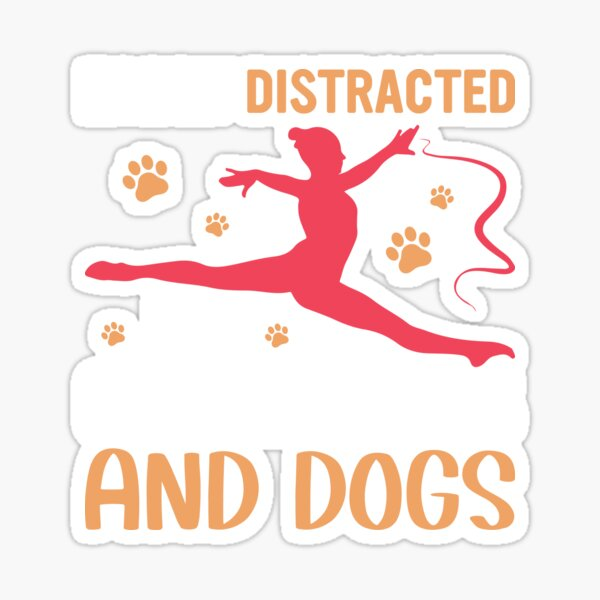 Distracted and dogs Sticker
