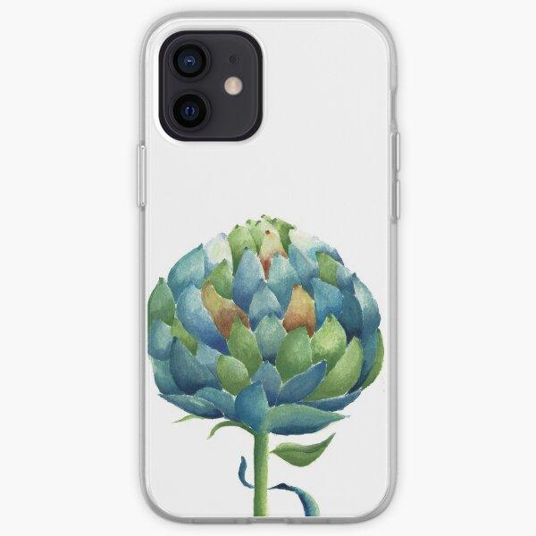 Artichoke in watercolour iPhone Soft Case