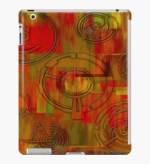 Orange and Rounds iPad Case/Skin
