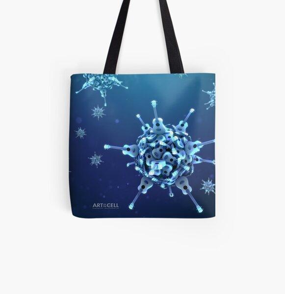 Ukulele Acquisition Syndrome Virus Full - Blue All Over Print Tote Bag