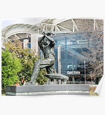 Don Bradman - Statue - Adelaide Oval Poster