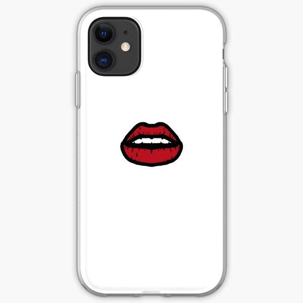Dark Red Lips iPhone Soft Case