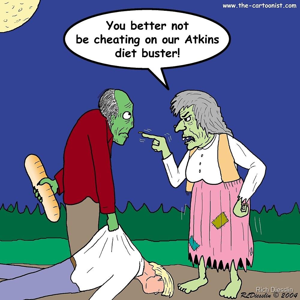 Zombie Atkins Diet by Rich Diesslin