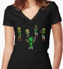 Orchestra of Time Women's Fitted V-Neck T-Shirt