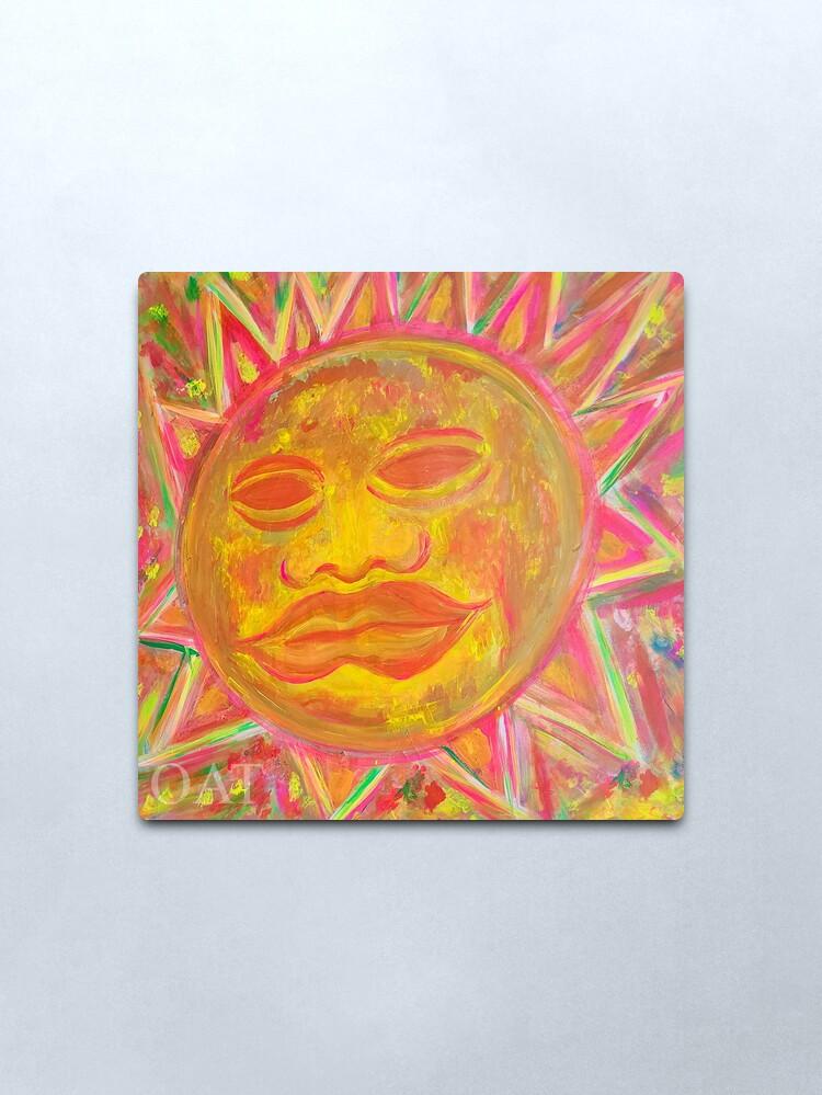 Alternate view of Ancient Olmec Sun Ho'oponopono Healing Art Metal Print