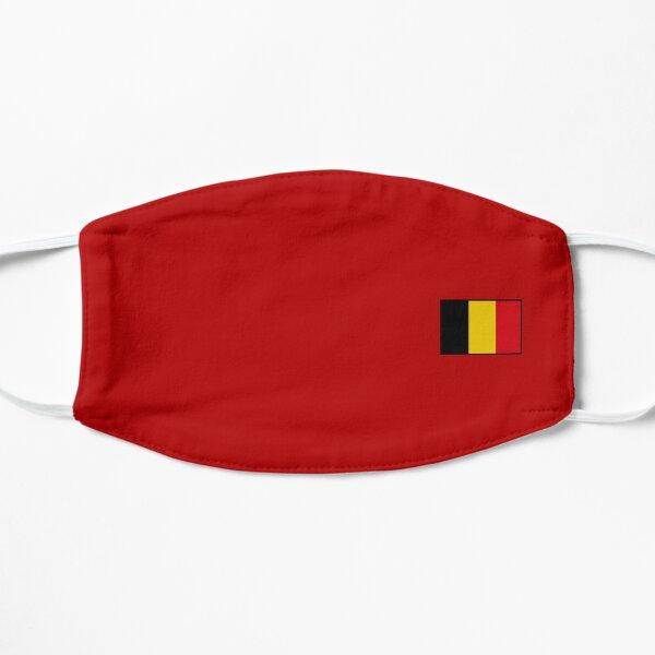 Drapeau belge simple Masque sans plis
