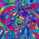 Drawing Floral Doodle G1 by MEDUSA GraphicART