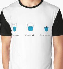 """There Is No Glass"" Matrix Glass Joke Graphic T-Shirt"