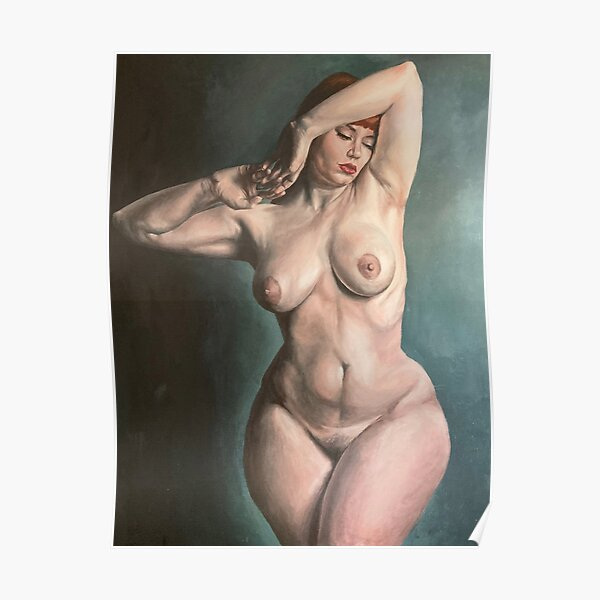 Venus ~ Painted Nude Study of a Curvaceous Redhead Poster