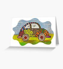 VW Punch Buggy Vroom Vroom Greeting Card