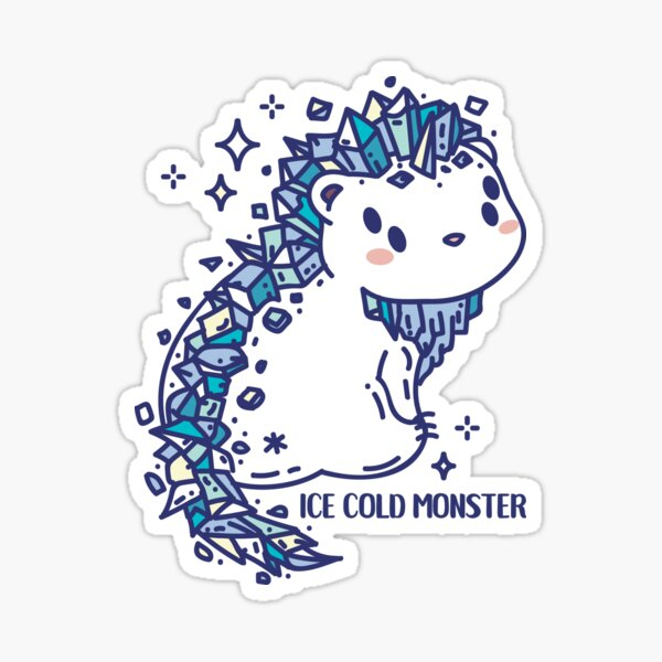 Frozen monster Sticker