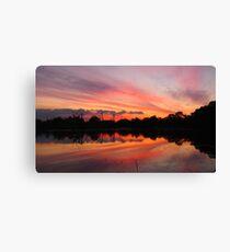 Lagoon Sunset Canvas Print