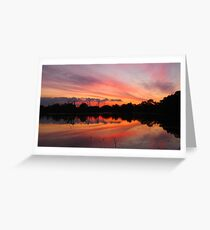 Lagoon Sunset Greeting Card