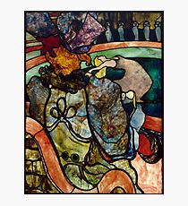Toulouse Lautrec: At the Circus (Stained Glass) Photographic Print