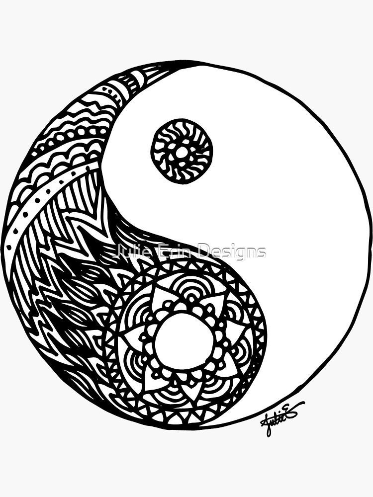 Tangled Yin Yang by julieerindesign