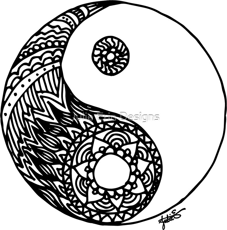 Quot Tangled Yin Yang Quot Stickers By Julieerindesign Redbubble