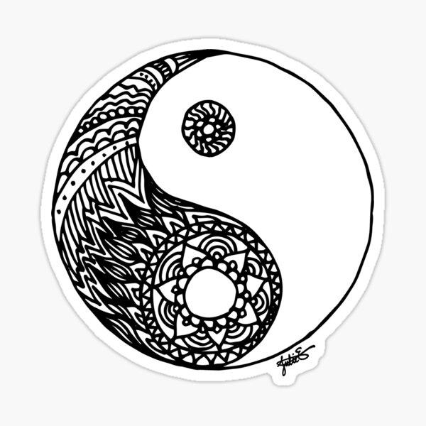 Tangled Yin Yang Sticker