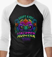 Adopt a Pet Monster Men's Baseball ¾ T-Shirt