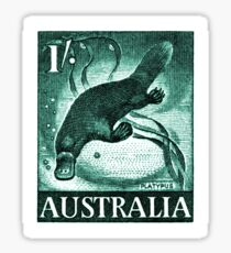 Vintage 1959 Australia Platypus Postage Stamp Sticker