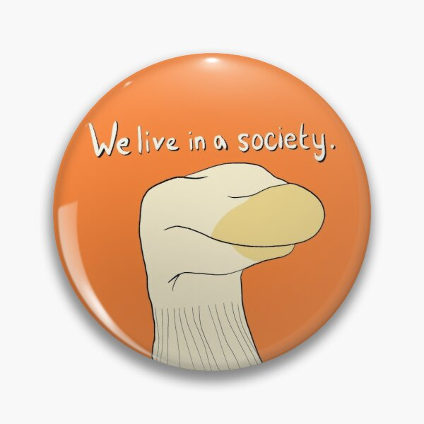 """Bo Burnham Socko """"We live in a society""""  Inside Special (sticker and more) Pin"""