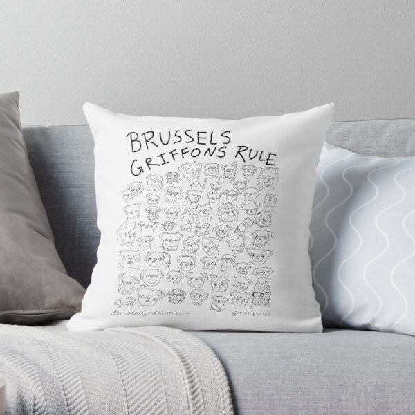 Brussels Griffons Rule Throw Pillow