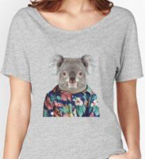 Cute Koala in a Hawaiian Shirt  Women's Relaxed Fit T-Shirt