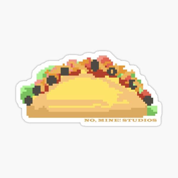Taco! (2D, pixel art) Sticker