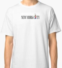 NYC Gay Pride Statue Of Liberty Rainbow Classic T-Shirt