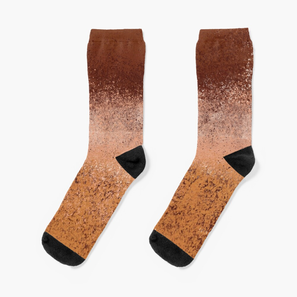 Warm Neutral Boho Terracotta Socks