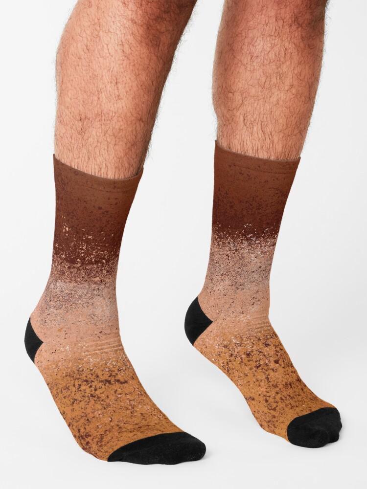 Alternate view of Warm Neutral Boho Terracotta Socks
