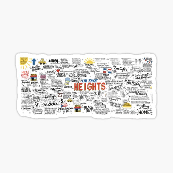 In the Heights - Sketch Notes Sticker