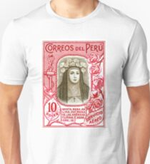 1936 Peru Saint Rose of Lima Postage Stamp  Slim Fit T-Shirt