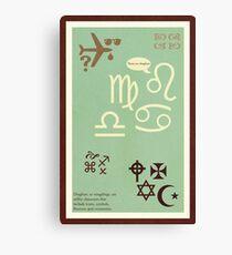 Type Term - Dingbats Canvas Print