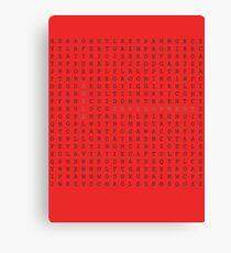 Agile word search Canvas Print
