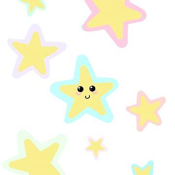 Pastel Twinkle Stars by Stellarfrost