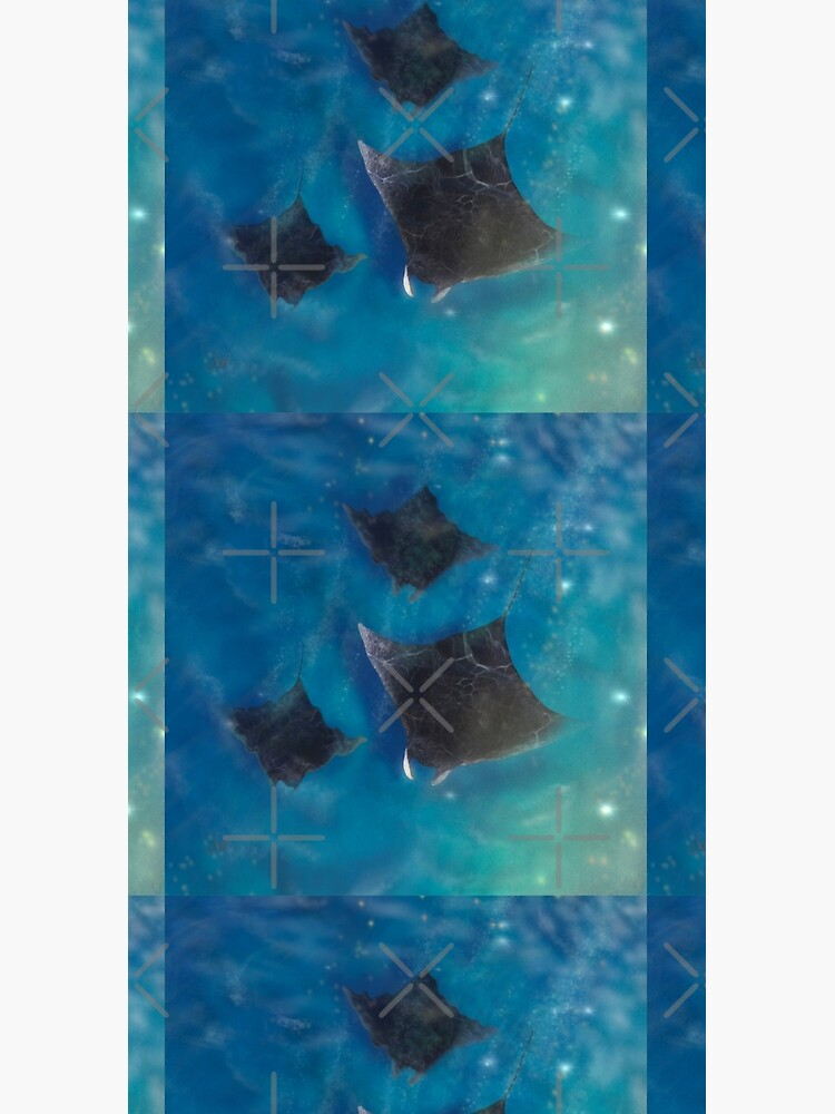 Playful Manta rays_ Sealife Pacific Ocean waves by ebozzastudio
