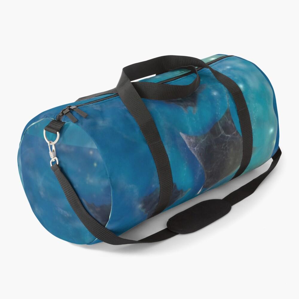 Playful Manta rays_ Sealife Pacific Ocean waves Duffle Bag