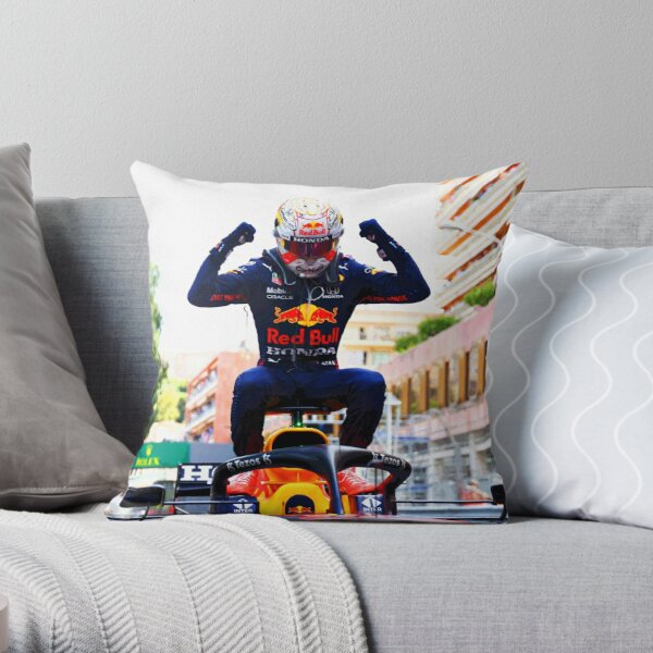 Max Verstappen celebrating his victory on top of his car after winning the 2021 Monaco Grand Prix abstract Throw Pillow
