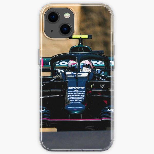 Sebastian Vettel rast beim Großen Preis von Baku . 2021 auf einen zweiten Platz auf dem Podium zu iPhone Flexible Hülle